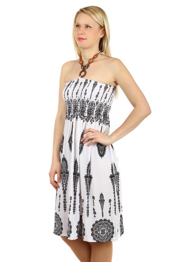 Vzdušné letní šaty s ozdobou 446535aa39