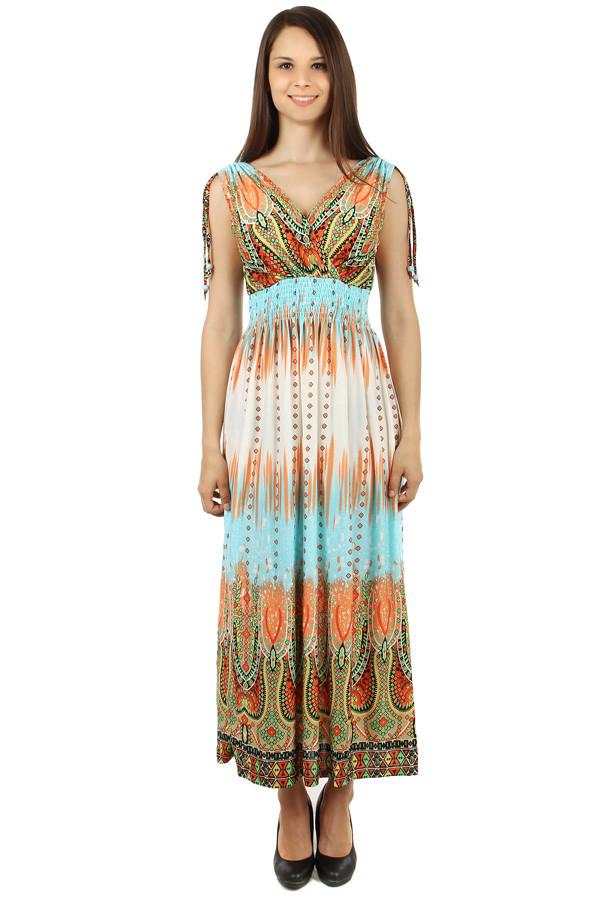 Vzorované dlouhé letní šaty 80d2517e82
