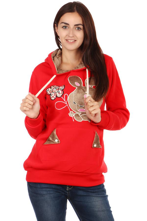 Dámská mikina s obrázkem a ušima na kapuci 24bbc12822