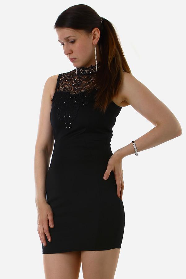 d2b6c1a8193 Elegantní dámské šaty s krajkou -zeštíhlující efekt