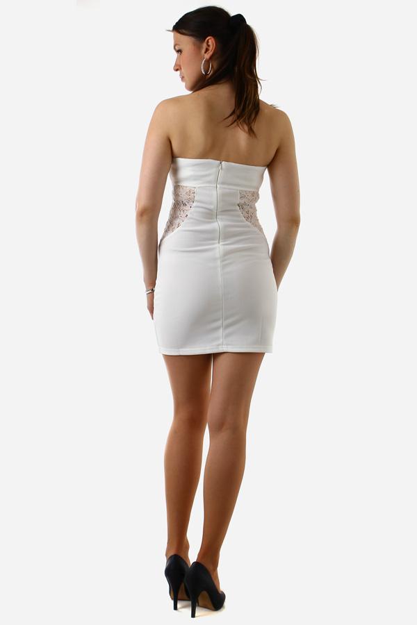 Dámské šaty bez ramínek - party šaty 8a698f19230